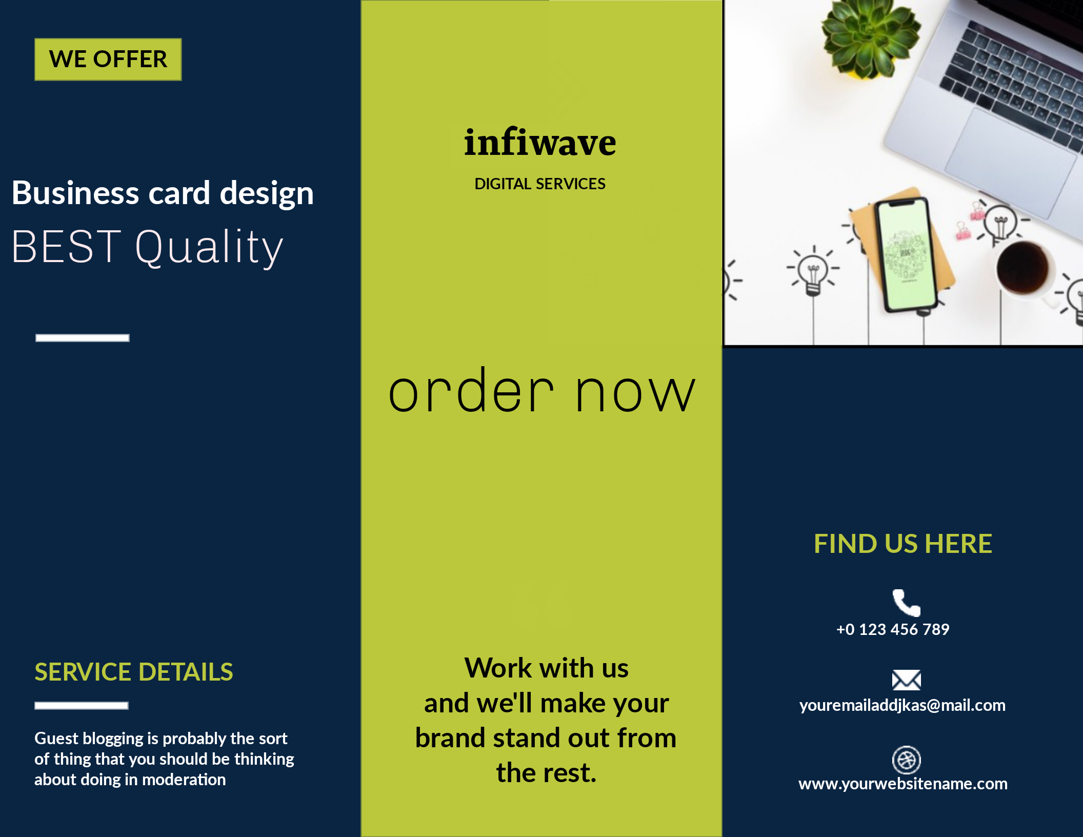 I will design business cards,letterheds and stationery brochure