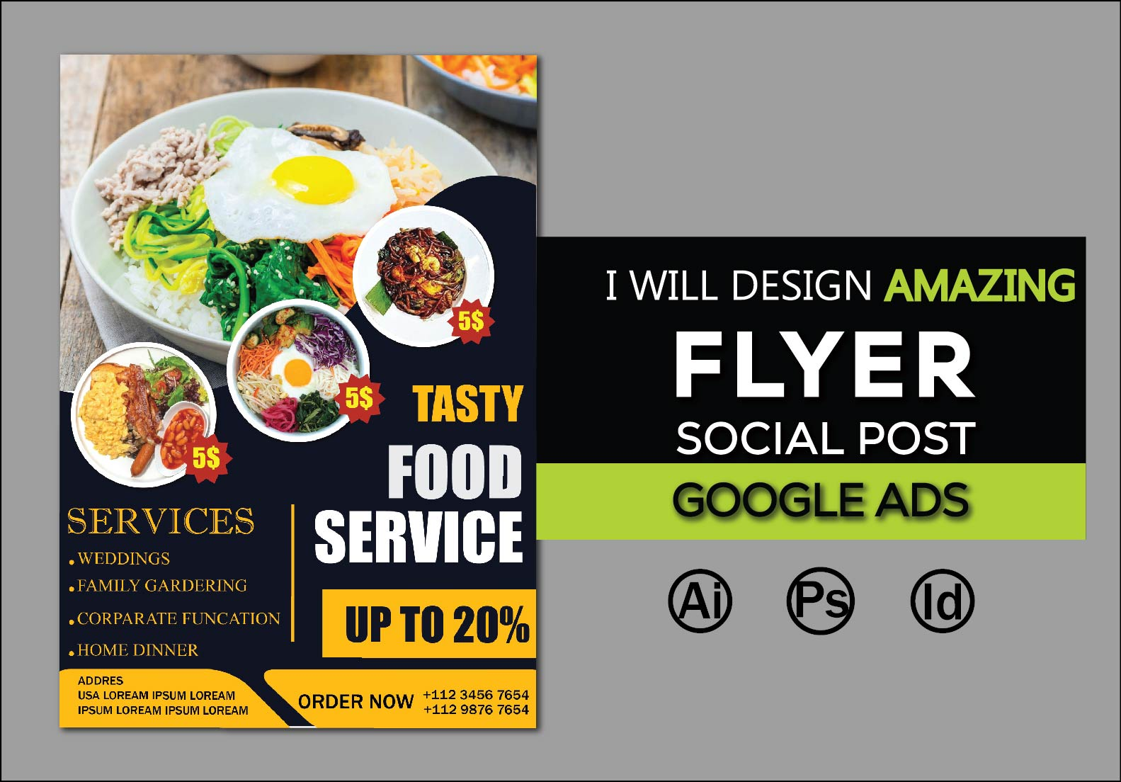 I will create attractive flyer,  social post and facebook cover design