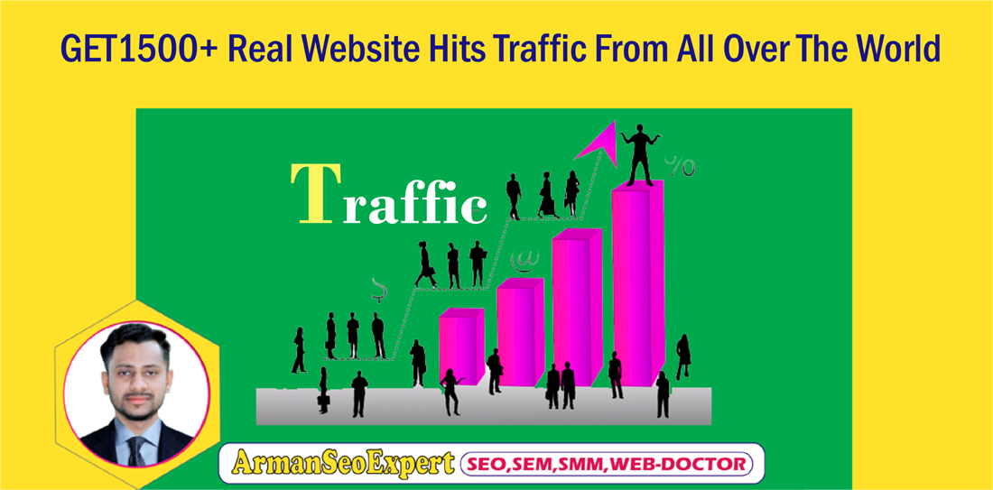 GET 1500+ Real Website Hits Traffic From All Over The World