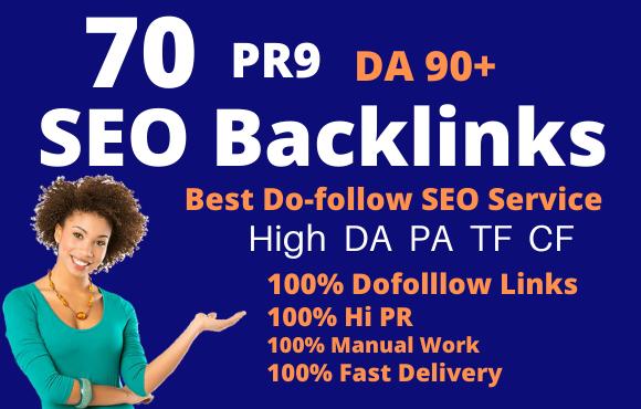 I Will Create 70 Pr9 Da 90 High Authority Dofollow Profile Backlinks