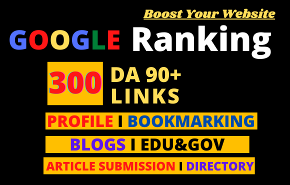 TOP RANKING WITH BEST LINK BUILDING SERVICE 300+ BACKLINKS