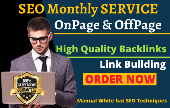 complete monthly SEO service link building high quality backlinks