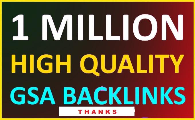 make 1 million high quality SEO back-links