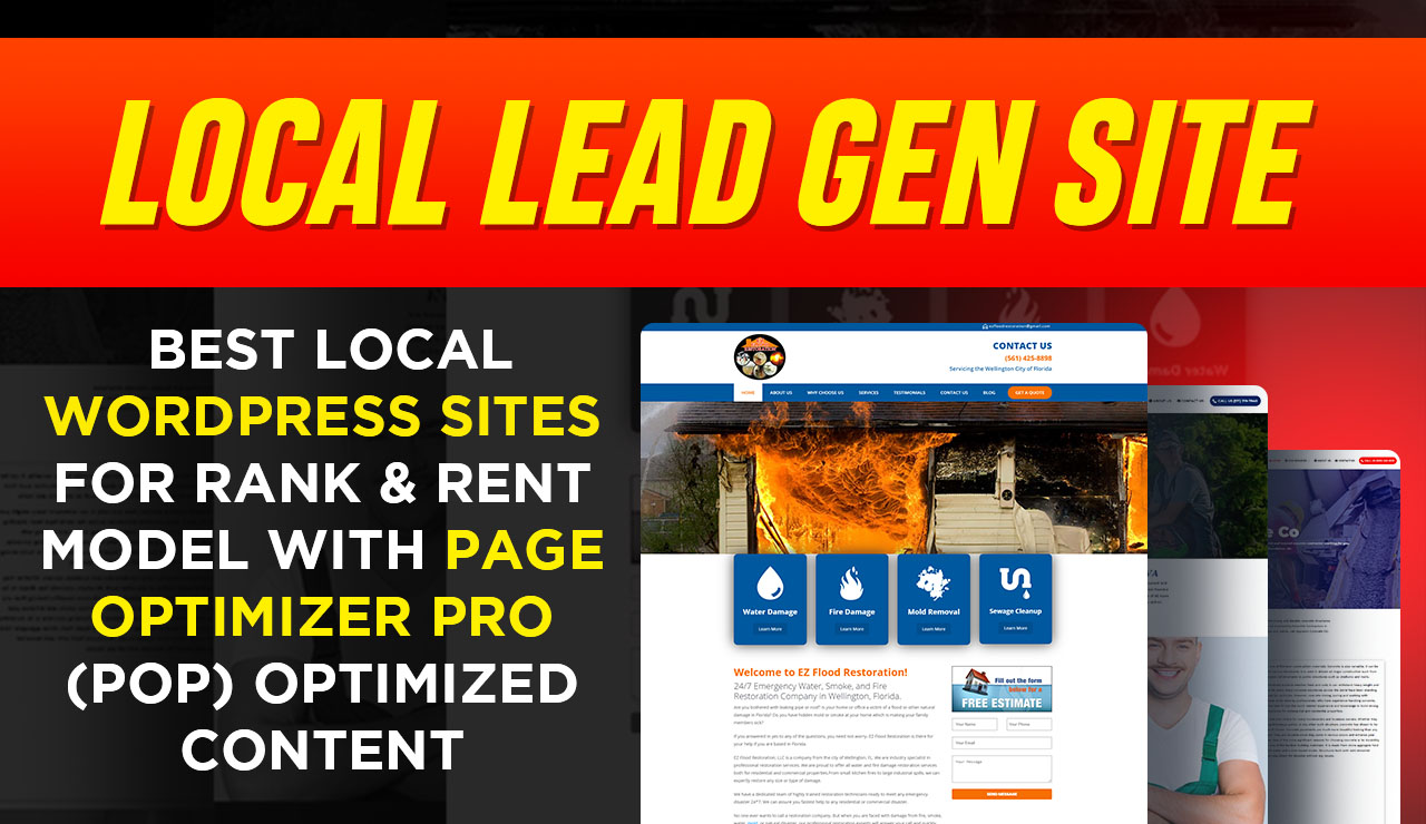 Done For You Lead Gen Site With Content And Logo