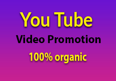 Organic YouTube video promotion with real traffic