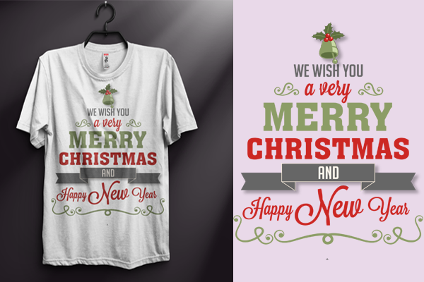 I will design custom modern typography T Shirt