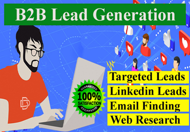I will do b2b lead generation for targeted industry and location