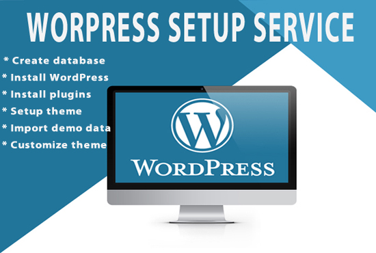 I will install wordpress,  setup theme and do customization
