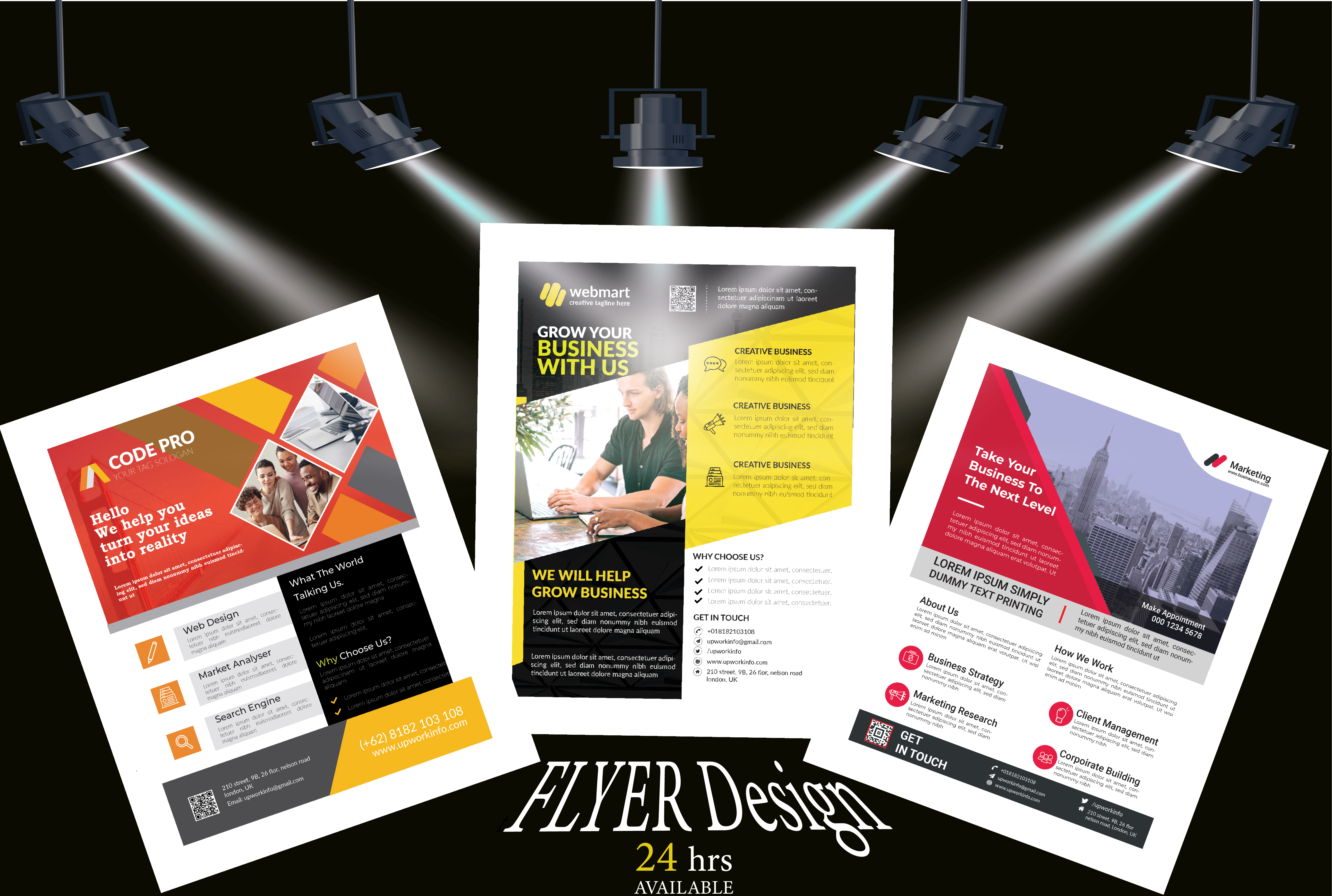 I will design a professional business flyer or brochure for you