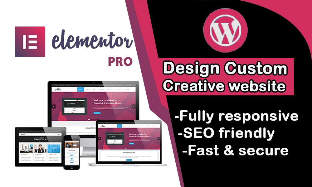 I will design creative,  responsive and seo friendly website.