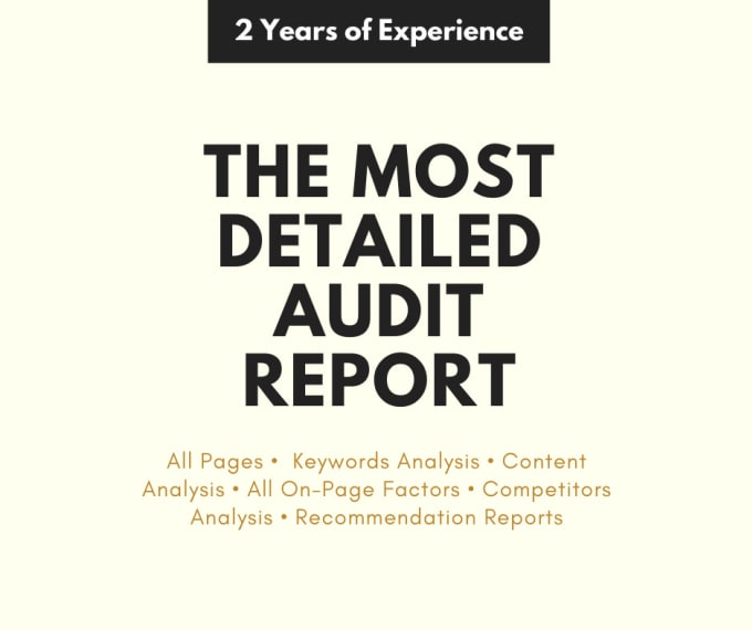 Audit your Blog/Wordpress site with complete report