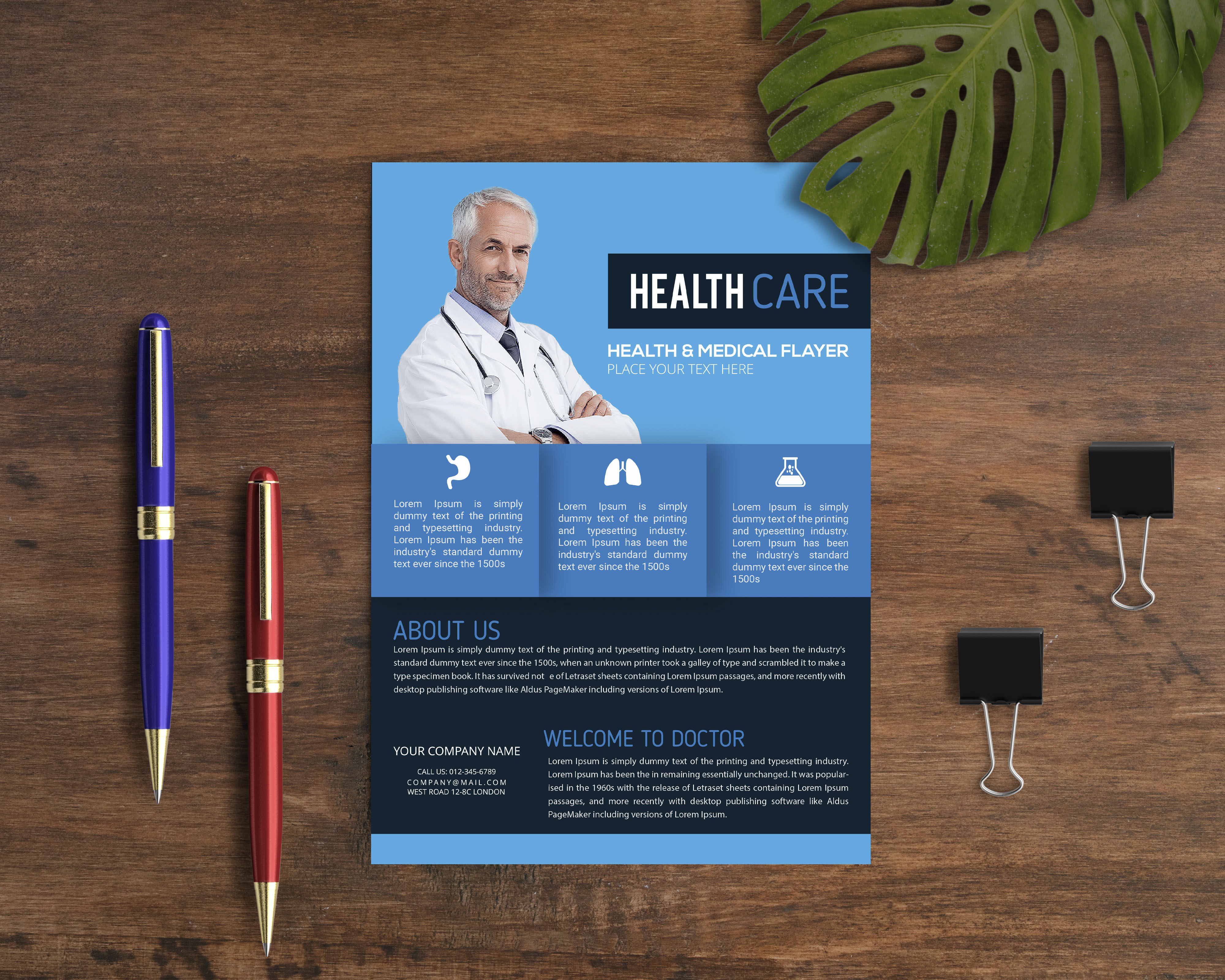 I Will Design Professional Corporate Medical Flyer And Company Profile Design