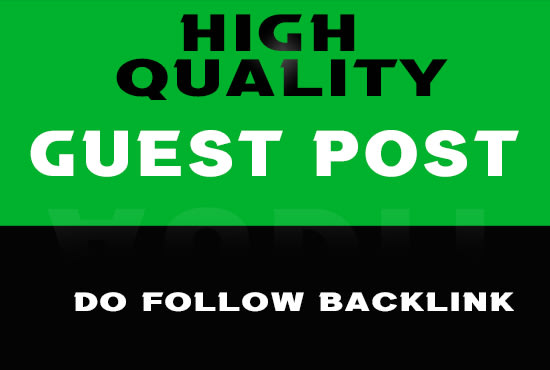 I'll provide high quality guest post between 20 to 90 DA Websites.
