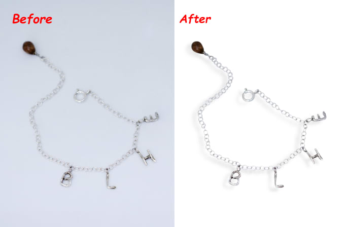 I will do 50 hard jewelry images background remove and retouching
