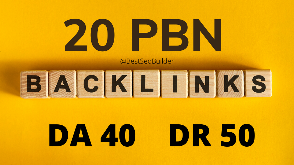 Get 20 web 2.0 PBN from unique 20 domain