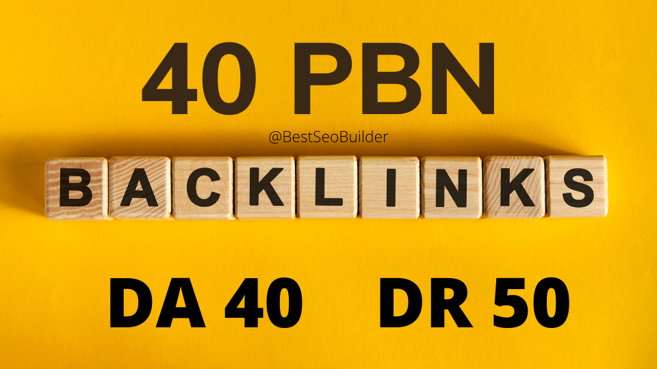 40 web 2.0 PBN from unique 40 domain
