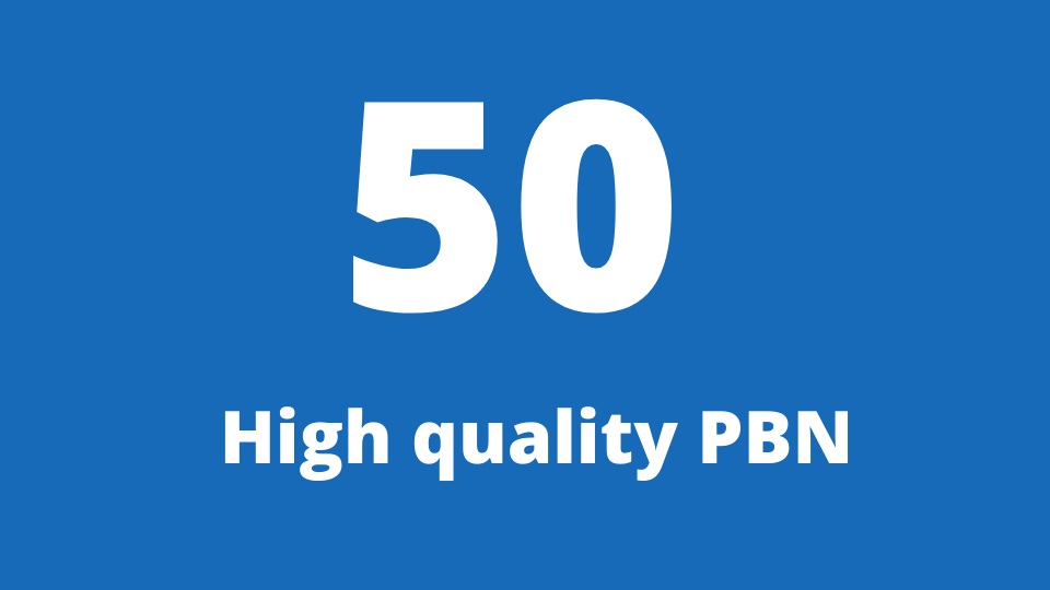 Get 50 web 2.0 PBN from unique 50 domain