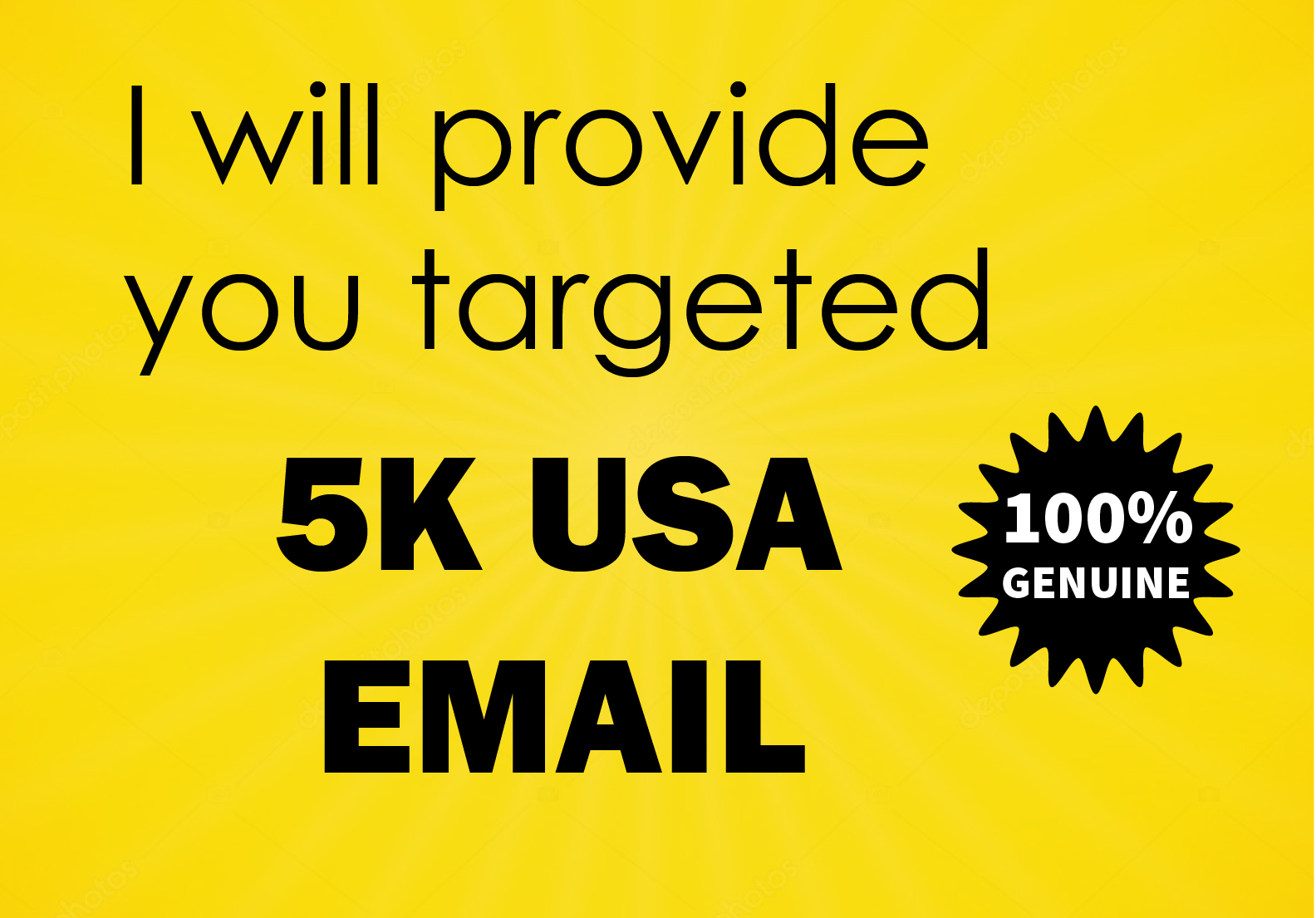 I will provide you 5k USA email list for marketing