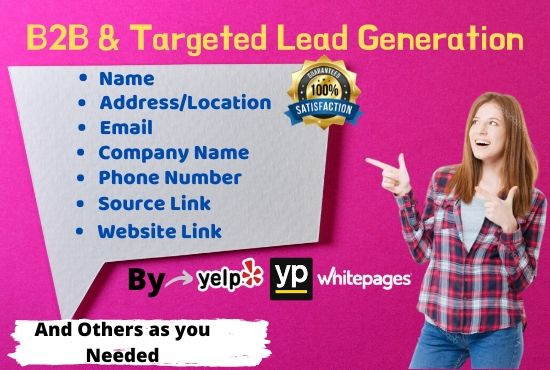 I will do 40 b2b linkedin lead generation,  email list,  web scraping and web research