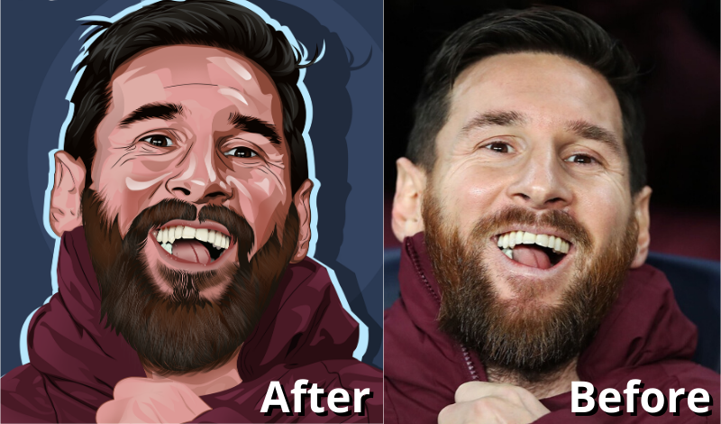 I will do perfect vector art,  portrait from your photo