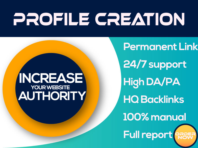 Manually Create 30 Do-Follow High PA DA Profile Creation Backlink For Increase Website Authority