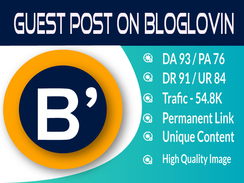 I will Publish High DA Authority Guest post Services On BlogLovin