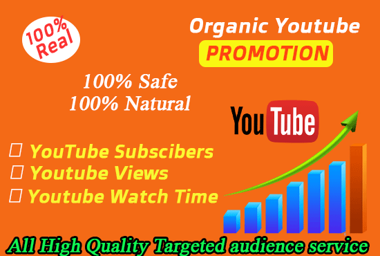 High Quality youtube monetization Service & YouTube videos Promotion real users and fast delivery