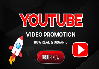 I will do guarantee Organic Youtube Promotion Vedio