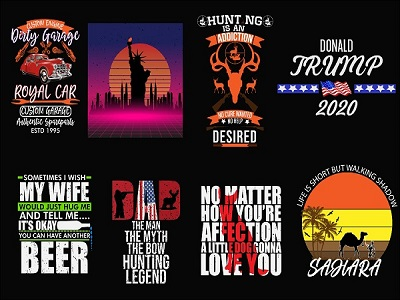 I will do typography and custom 1 t-shirt design