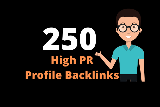 Rank at 1 in google with 250 high Pr Profile Backlinks