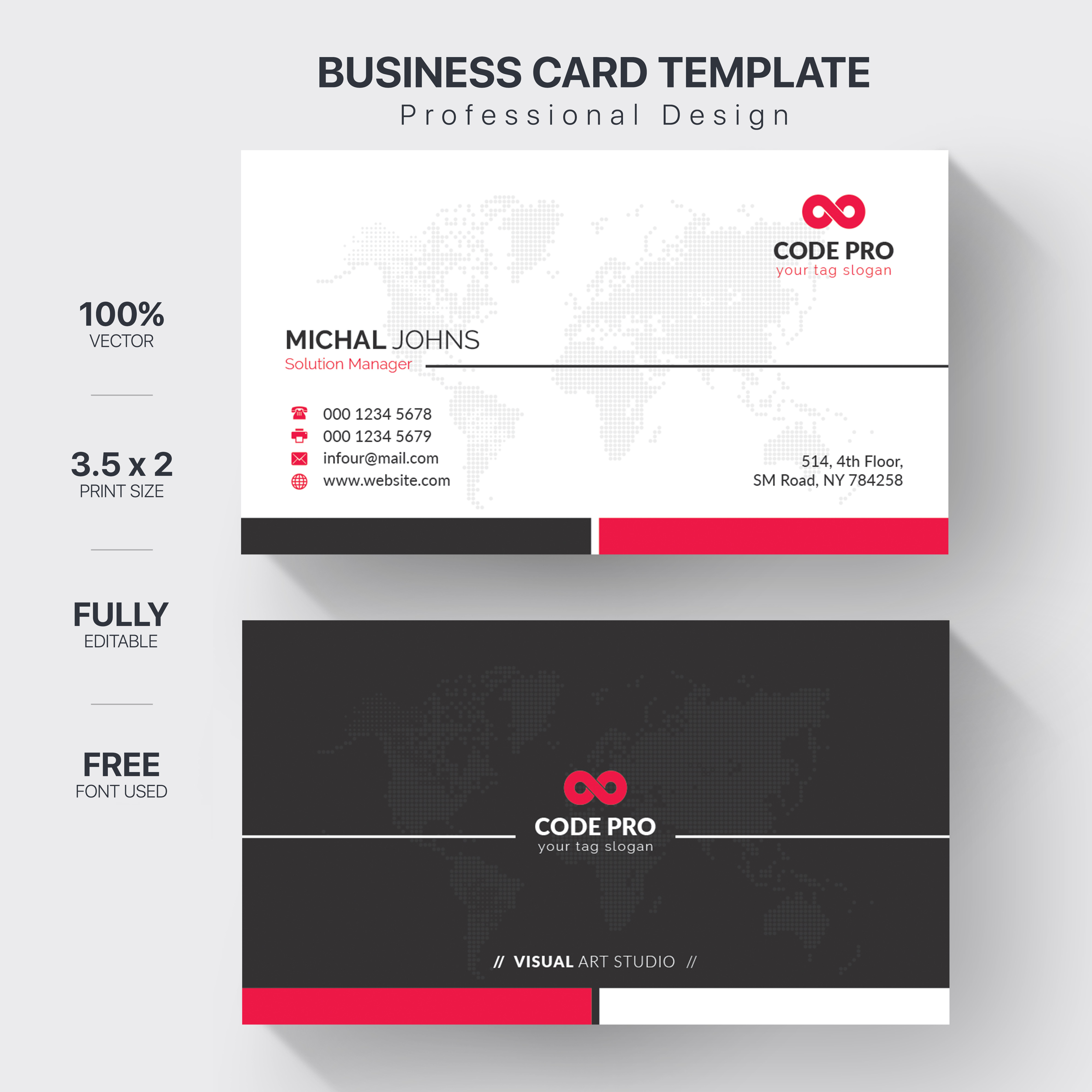 Create Professional Business card for You.