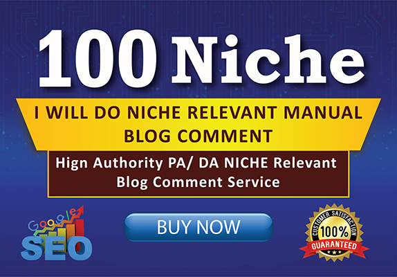 I Will do 100 niche relevant blog comments backlinks