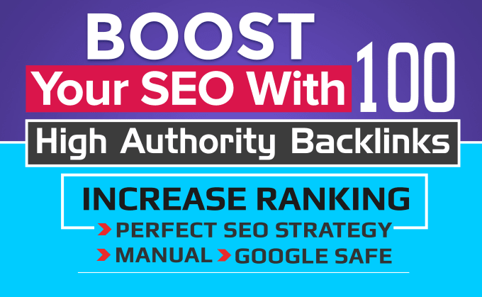 boost your SEO with 100 high authority backlinks for your website or youtube video