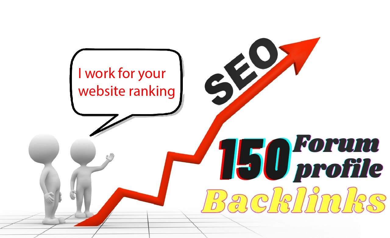 I will do 150 high da dofollow forum profile backlinks