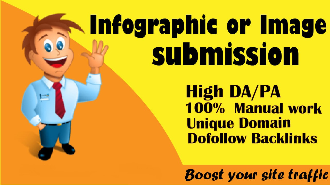 I will do 30 infographic or image submission in best high da site