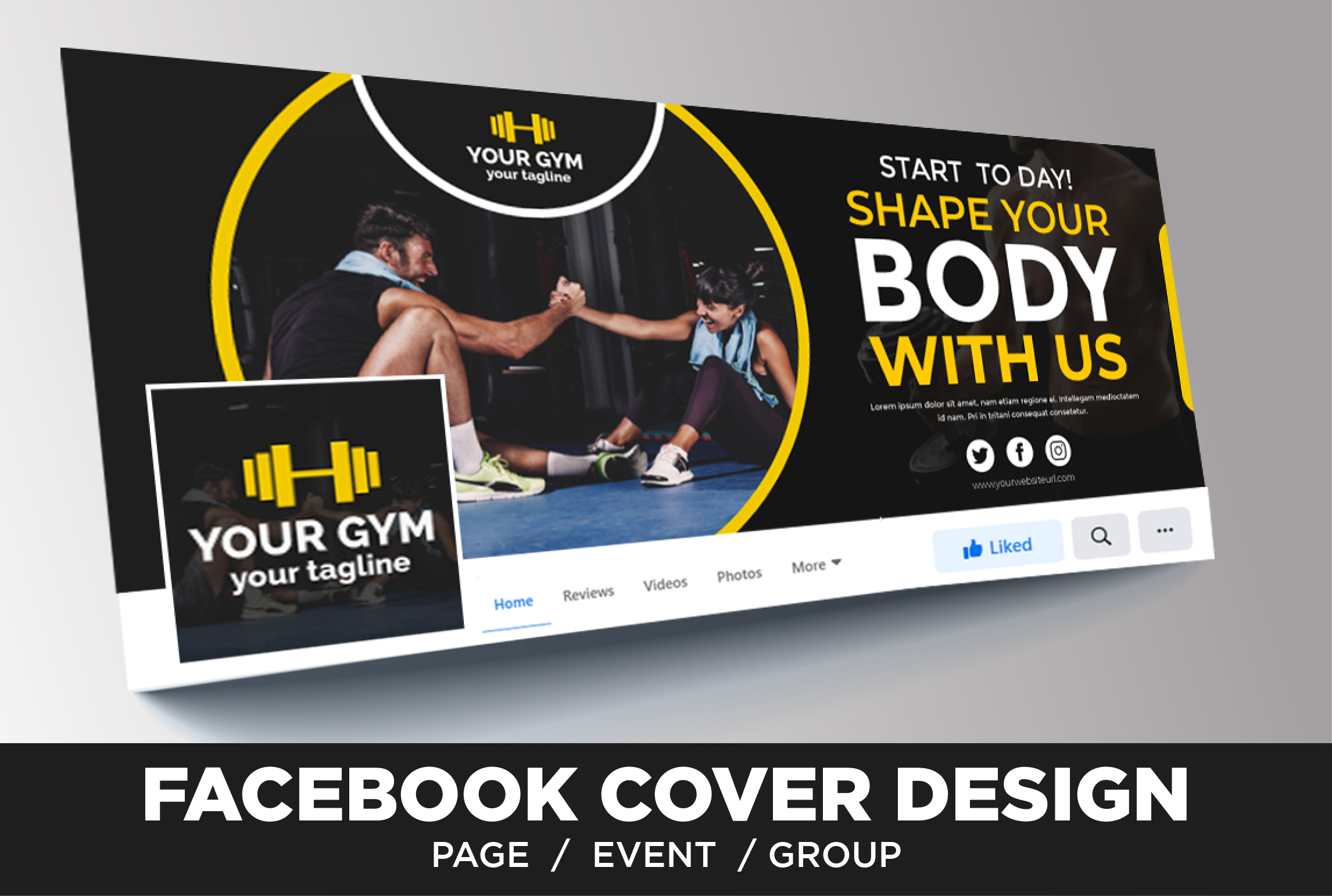 I will design facebook cover and profile picture with 2 concept