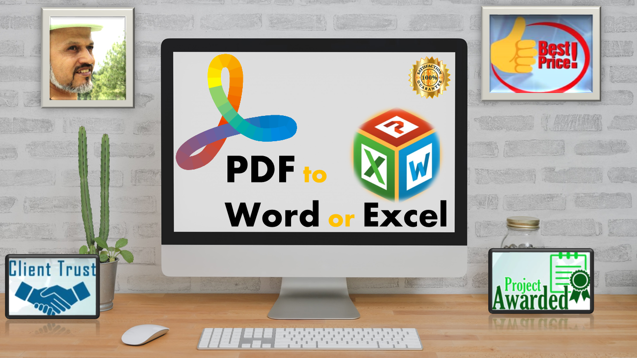 I will Convert PDF to Word and Text