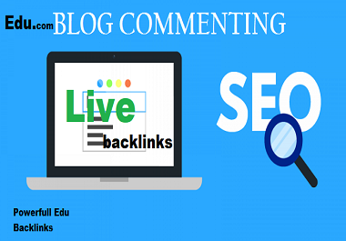 50 edu. site blog commenting high DA/PA live backlines