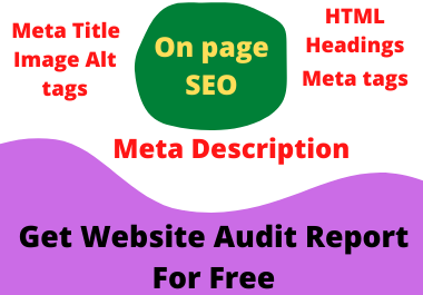 I will write SEO optimized Meta Title,  Meta descriptions,  Meta tags and Image alt Tags
