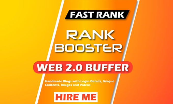 Build 30 web 2.0 Buffer Blogs and 20 bookmarking backlinks for seo