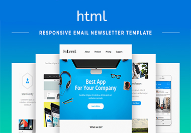 Professional HTML email template guaranteed