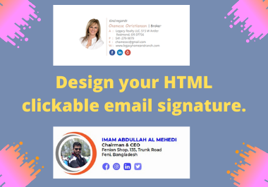 I will design your simple Email signature professionally