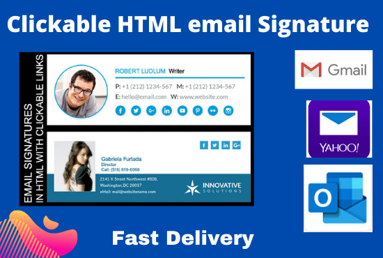 I will design your HTML & clickable Email signature professionally