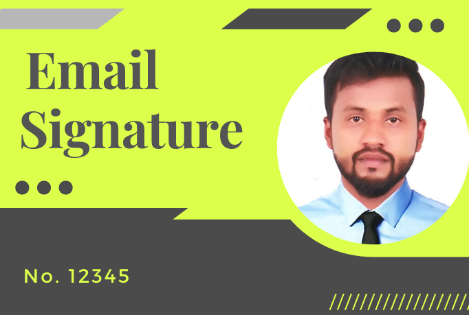 I will make a clickable HTML email signature for outlook,  gmail etc