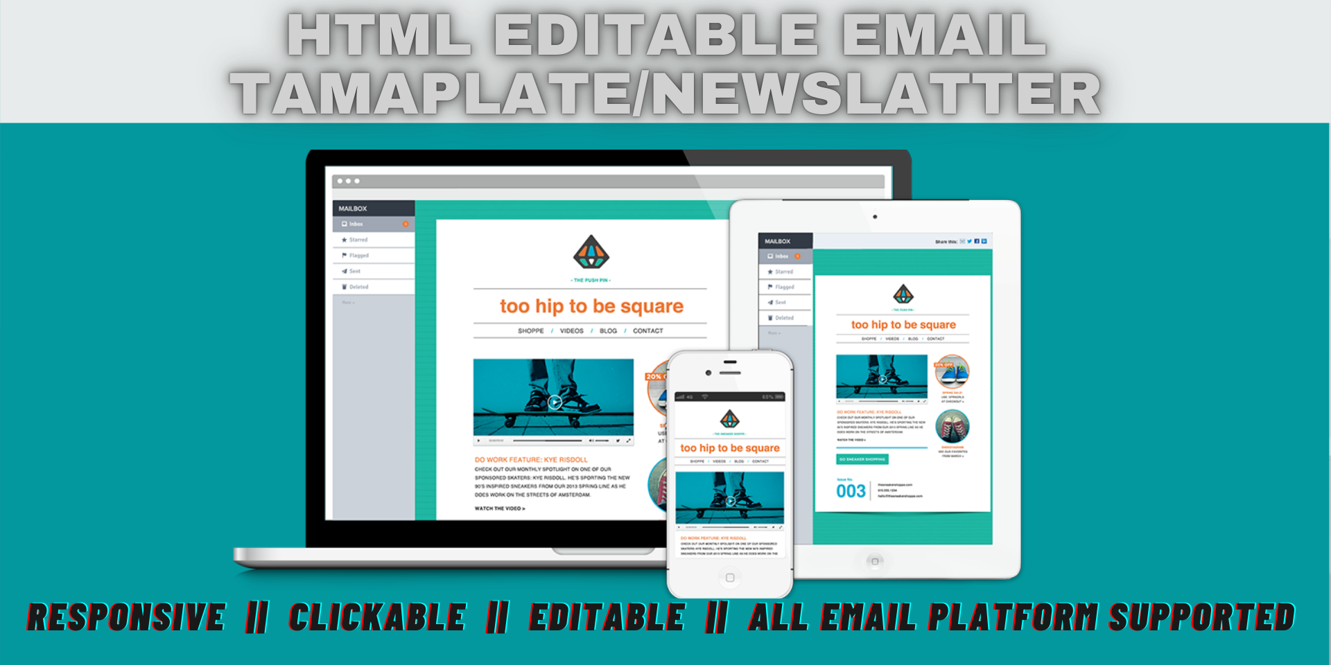 I can create an email template or email newsletter