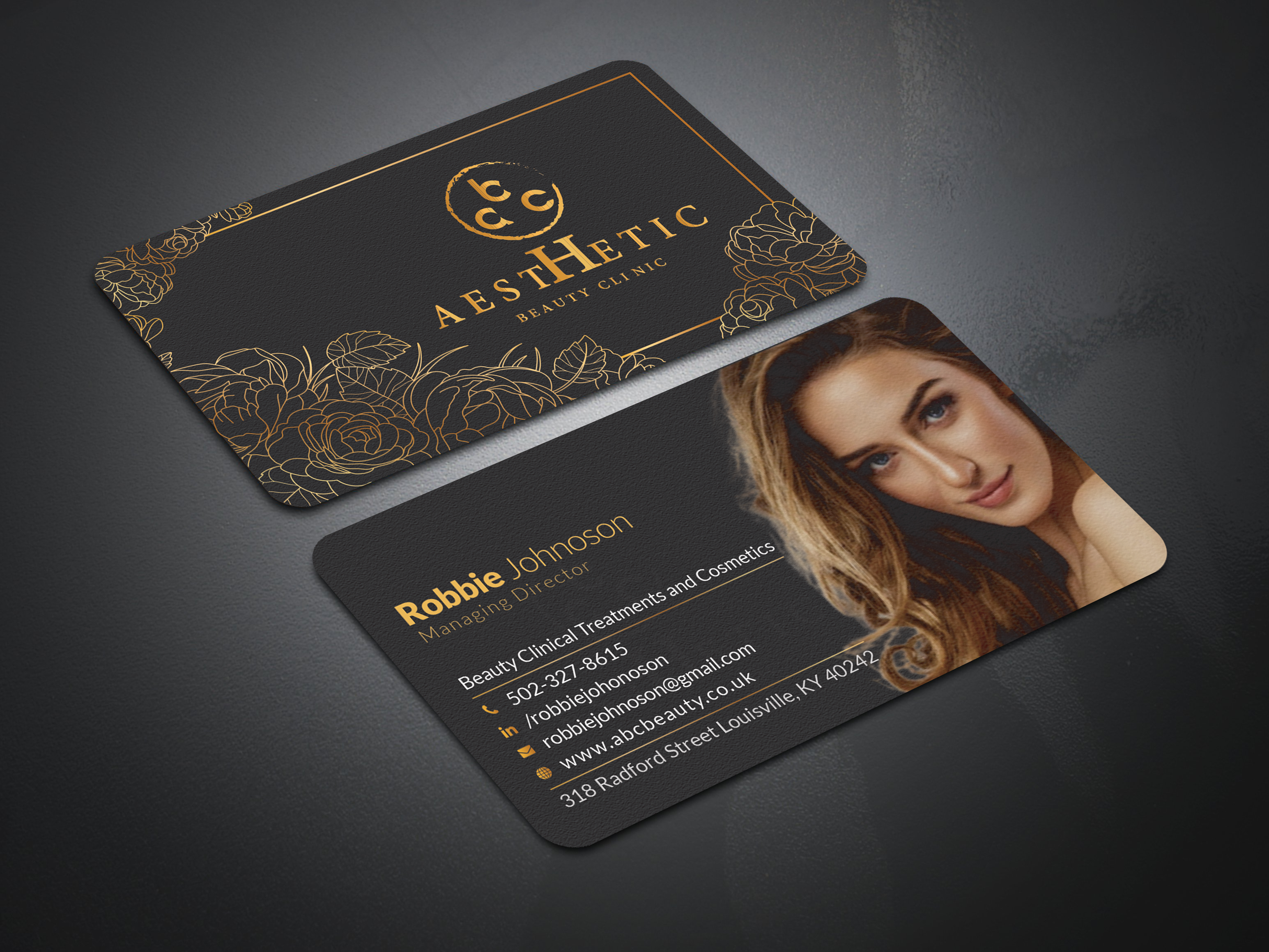 I will design unique modern,  luxury business card business card design.