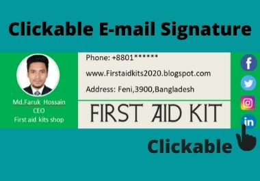 I will create responsive html and clickable icon Email signature for your business promotion