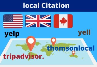 I Will make 30 uk,us,canada,australia Local Citations or Business Listing for your business grow