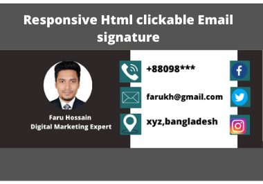 i will design Html clickable email signature