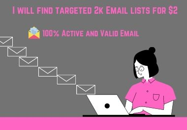 I will find targeted 2k Email list for your Business
